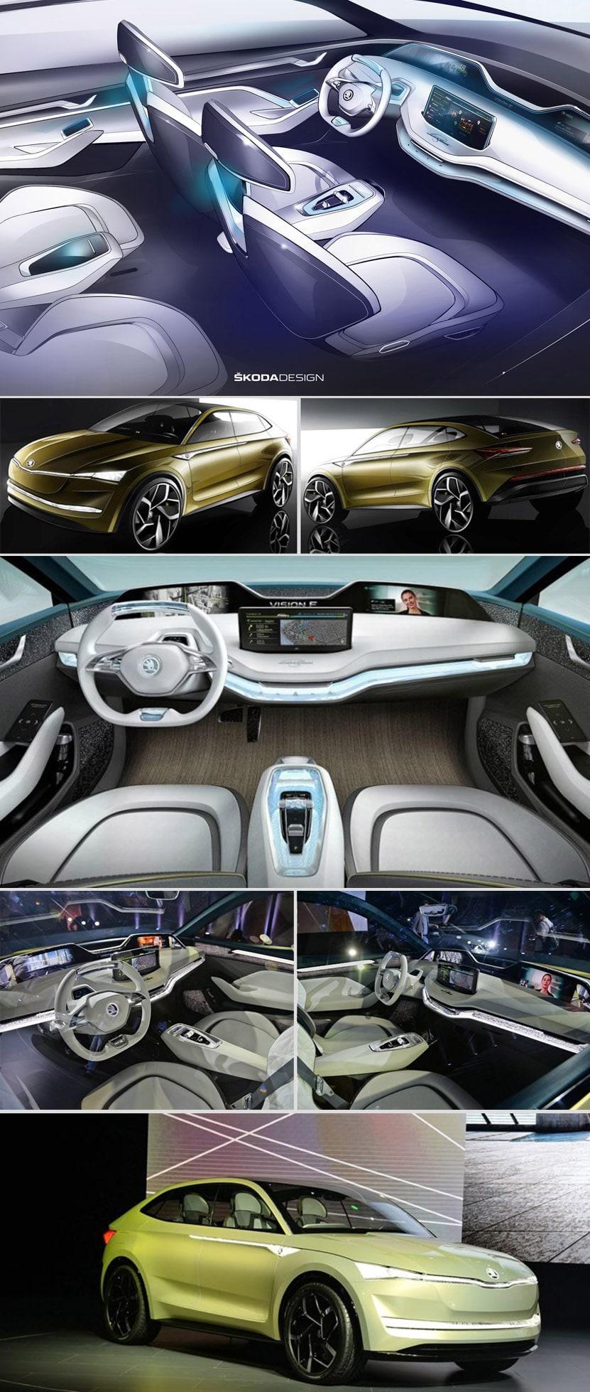 Електромобил Skoda Vision E - кола на бъдещето II