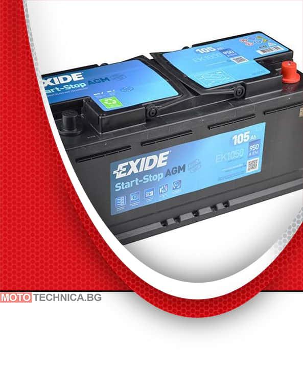 Акумулатор EXIDE AGM 105AH 950A R+