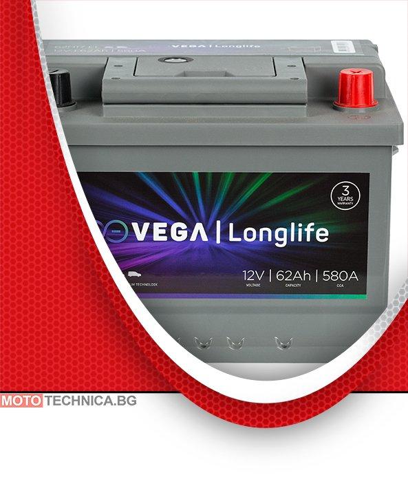 Акумулатор VeGa 62Ah LONGLIFE