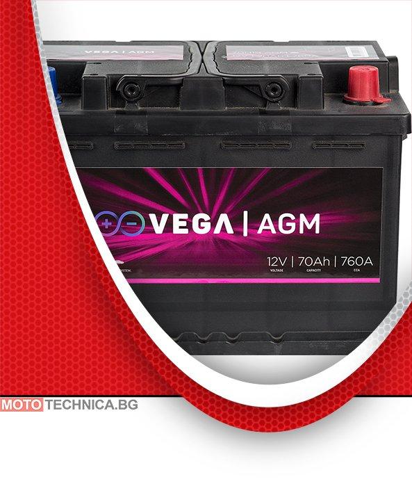 Акумулатор VeGa 70Ah AGM