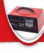 Зарядно за акумулатор 6/12V, 8A с метален корпус
