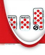 Комплект педали SPARCO Racing червени