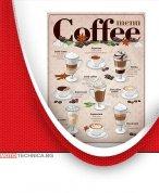 Ретро табела Coffee Menu 30x40 см