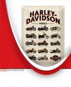 "Ретро табела HARLEY-DAVIDSON ""Модели"" 30 х 40 см"