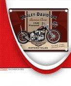 Ретро табела HARLEY-DAVIDSON PANHEAD 30 х 40 см