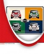 Ретро табела Mini Cooper 30x40 см
