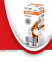 Крушка с нагреваема жичка, фар за мъгла H2 OSRAM 55W