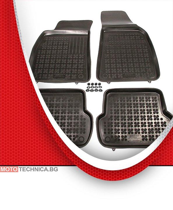 Стелки REZAW PLAST AUDI A4 2000-2004 B6, гумени, черни